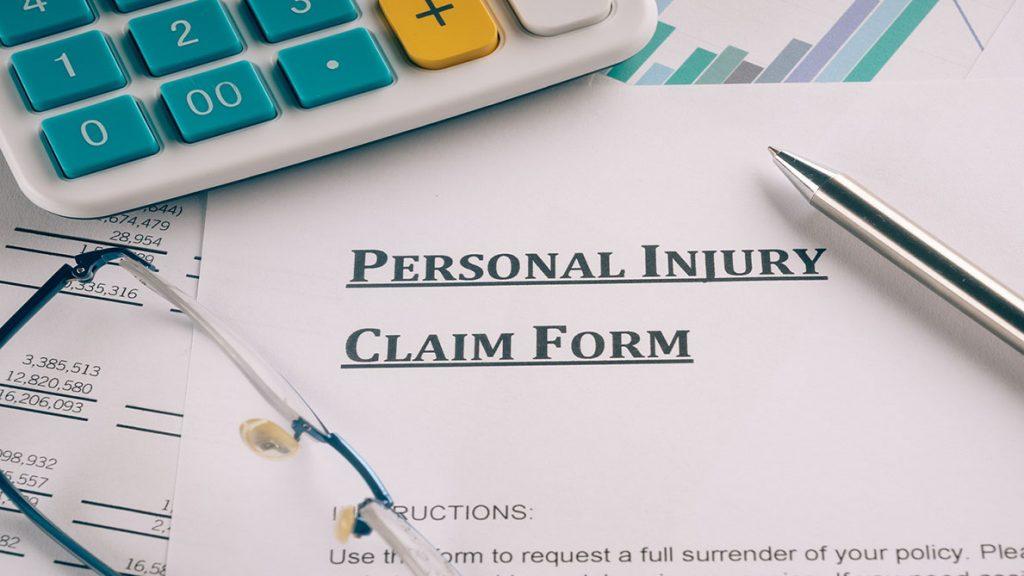 personal injury claim form